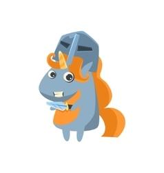 Unicorn in knight desguise vector