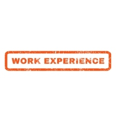 Work Experience Rubber Stamp vector image