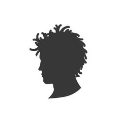 Man male head silhouette avatar icon vector image