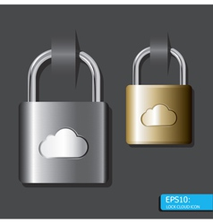 lock cloud icon vector image