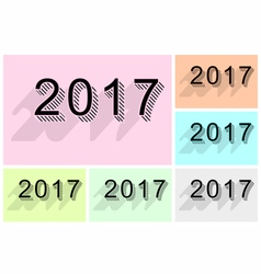 New year 2017 text design vector