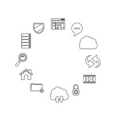 Isolated storage icon set design vector