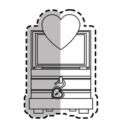 Trunk of love icon vector