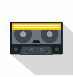 retro cassette tape icon flat style vector image