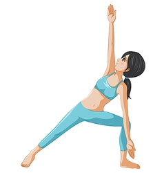 A woman performing yoga vector