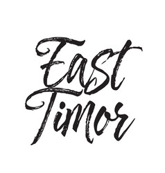 East timor text design calligraphy vector