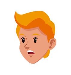 head blond boy sad young avatar vector image