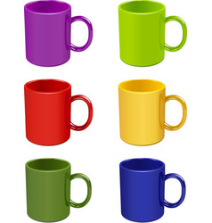 Colored cups vector