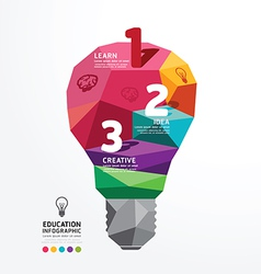 infographic light bulb Design Conceptual Polygon vector image
