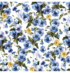 Blue flowers 4 vector