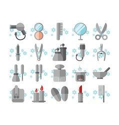 Spa and beauty icons set vector