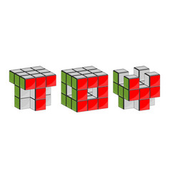 3d symbols out of blocks vector image vector image
