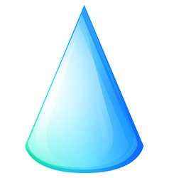 Blue cone on white vector