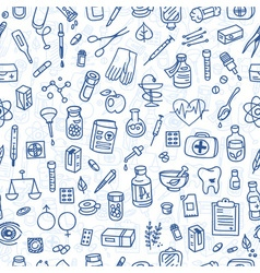 Health care doodle icons background vector