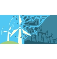 Clean energy power vector