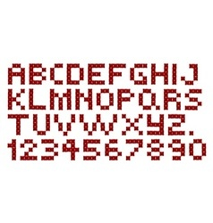 Cross stitch alphabet and numbers vector
