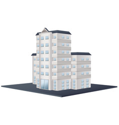 Architecture design for tall building vector