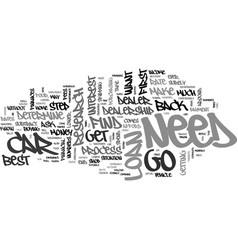 best car loan text word cloud concept vector image vector image