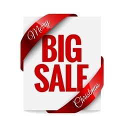 Big christmas sale label vector