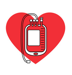 Blood bag icon vector