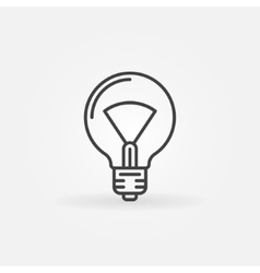 Bulb line icon vector image vector image