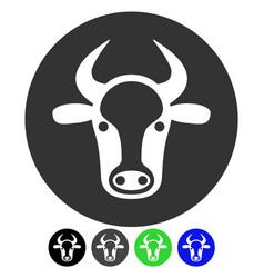 Bull head flat icon vector