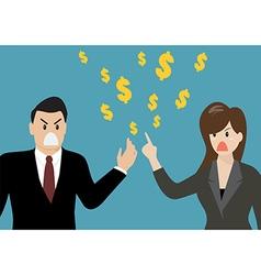 Business people having a quarrel about money vector