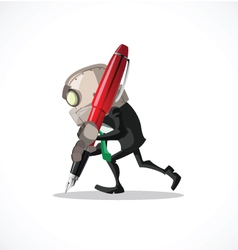 businessman pen vector image