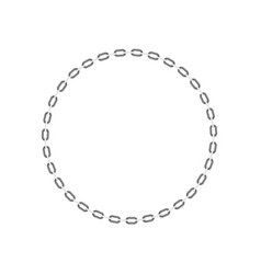 Chain in shape of circle in black and white design vector