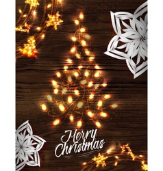 Christmas tree garland poster vector image