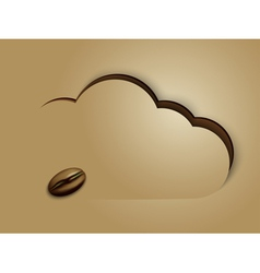 coffee in clouds vector image vector image