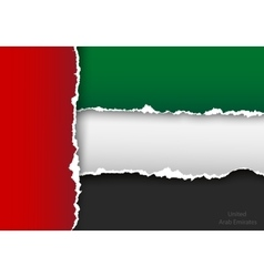Design flag united arab emirates from torn papers vector