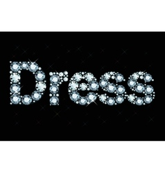Diamond word dress vector image