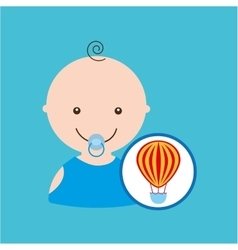 Funny airballoon toy baby icon vector