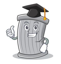 graduation trash character cartoon style vector image