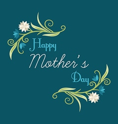 Happy mothers day hand-drawn greeting card with vector