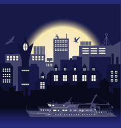 Industrial european vintage styled city travel vector
