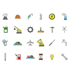 Industry colorful icons set vector image vector image