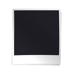 Instant blank photo template empty photo frame vector
