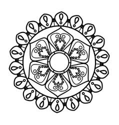 Mandala vintage decoration geometric pattern vector