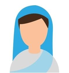 Nun woman character religion vector