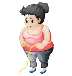 Obese woman vector