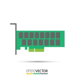 PCIe Solid State Drive SSD vector image