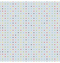 polka dot seamless background vector image vector image