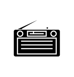 radio - radioreceiver icon vector image