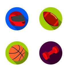 red protective helmet rugby ball basketball ball vector image