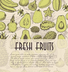 Seamless background with fruits which is ideal for vector image