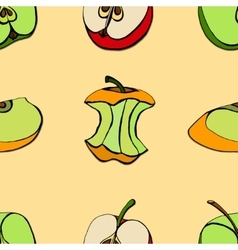 Seamless of apples vector image