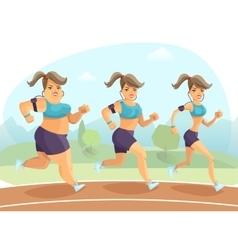 Slimming Woman vector image