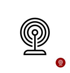 smart home or office beacon radar icon vector image